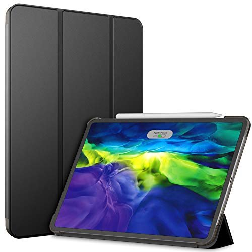 JETech Funda Compatible Apple iPad Pro 11 Pulgadas (2.ª Generación, Modelo 2020), Compatible con Apple Pencil, Smart Cover Auto-Sueño/Estela, Negro