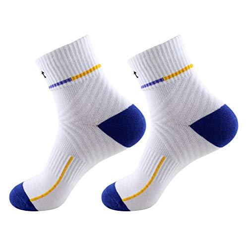 Calcetines deportivos Aoewsie para hombres y mujeres, transpirables, para deportes al aire libre, calcetines de baloncesto, color para hombre y fútbol, color Blanco y azul., tamaño talla única