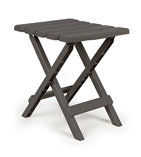 Camco 51682 Gray Regular Adirondack Portable Outdoor Folding Side Table, Perfect For The Beach, Camping, Picnics, Cookouts and More, Weatherproof and...