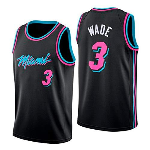 YIXUAN Hombres Jersey Camiseta Miami # 3 Dwyane Wade Swingman Camiseta de Baloncesto