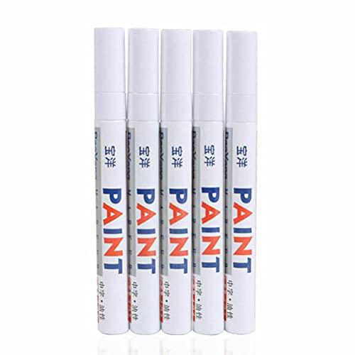 5PC White Paint Pen Marker Waterproof Permanent Car Tire Lettering Rubber Letter
