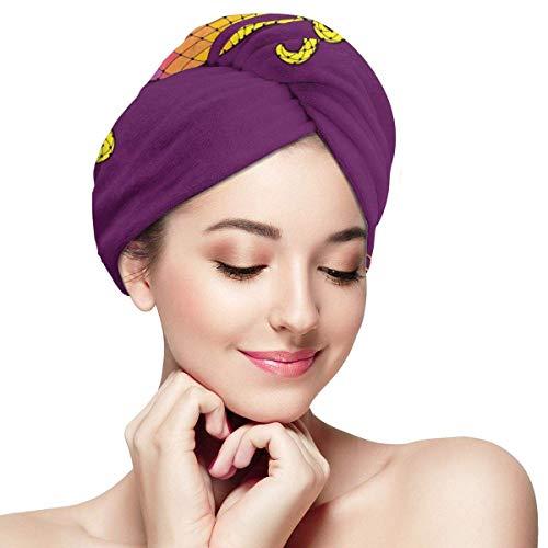 Enveloppement de cheveux à séchage rapide, calligraphie d'ornements de coin de style dentelle colorée et conception en pointillés, bonnet de douche absorbant