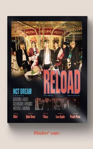 NCT Dream - Reload [Ridin ver.] Album+Pre-Oder Voordeel+Gevouwen Poster+Extra Fotokaarten Set