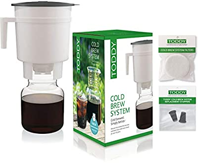 Toddy Cold Brew Coffee Maker System with Extra Filters and Silicone Stoppers Bundle