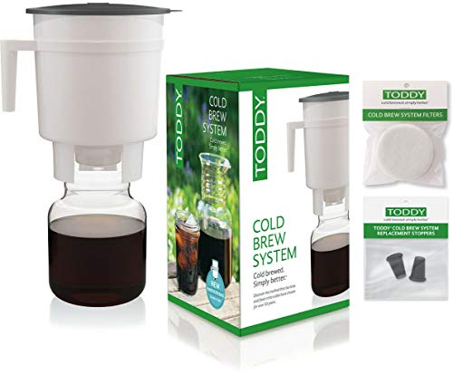 Toddy Cold Brew Coffee Maker System with Extra Filters and Rubber Stoppers Bundle (1)