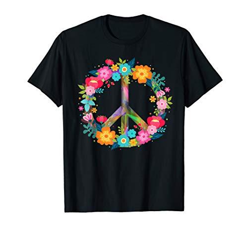 Peace Love Hippie Kostüm Tie Dye 60er 70er Jahre T-Shirt