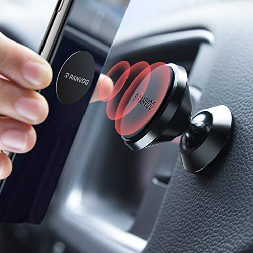 Magnetic Car Phone Mount, RANVOO Universal Magnet Dashboard Adhesive Car Mount Cell Phone Holder for iPhone XR iPhone XS Max iPhone XS iPhone 7/8 Plus Samsung S10 S9 Plus LG GPS and More