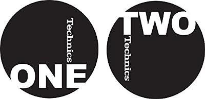 Technics 60606 One Two Slipmat - Black/White