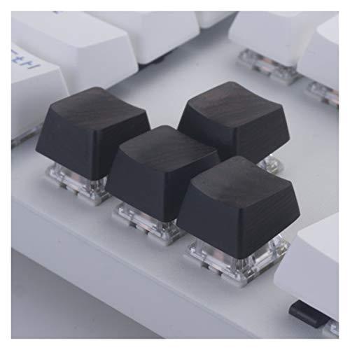 YXZQ Tecla 1pc KeyCap Pure Black Wood KeyCaps para el abridor MX Juego mecánico Decoración del Teclado DIY R1 R2 R3 R4 1.75x 2.25x 2X 2.75x 1.25x Reemplazo de Teclado (Color : 1x 2.25X Left Shift)