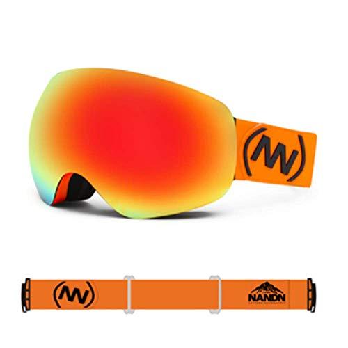 JayQm Skibril OTG zonder frame snowboard kat van de sneeuwbril professionele anti-mist dubbele lens voor mannen vrouwen UV400 bescherming
