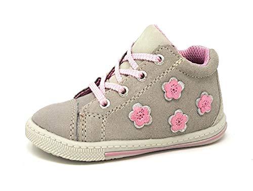 Lurchi Baby Mädchen BEBA Sneaker, Grau (Grey 25), 23 EU