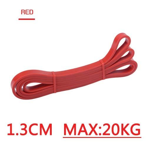 Mdsfe Trekbanden, elastiek, elastisch, voor fitness, yoga, oefeningen, gymnastiek, expander, resistent, loopband, elastiek, voor fitness 13 mm rood-A1688