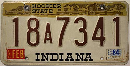 Original INDIANA Nummernschild USA , Auto-Kennzeichen US License Plate , Metallschild