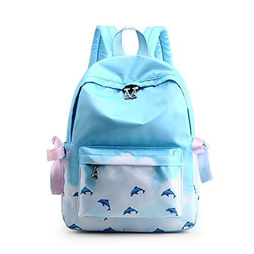 FANDARE Mochila Bolsa de Escuela Galaxy Mochilas Tipo Casual Bolsos de Mujer Bolsa de Viaje Niña Adolescente Mochilas para Aire Libre Viaje Mochilas Mochilas Infantiles Daypack Poliéster Azul