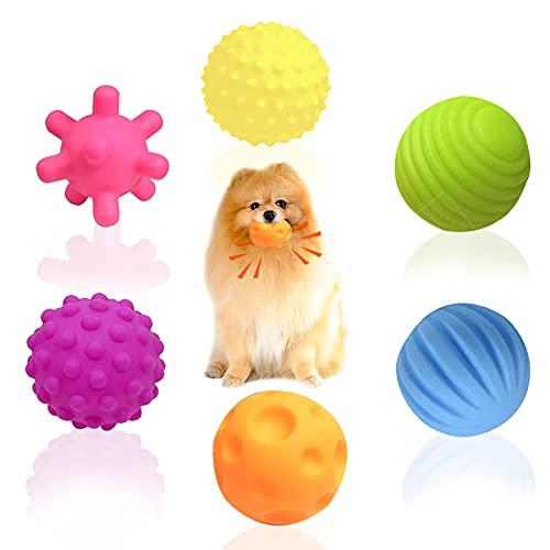 Juego de juguetes para perros grandes y pequeños, pelota con sonido para perros grandes y pequeños, tamaño mediano, para masticar dientes resistentes, pelota pequeña