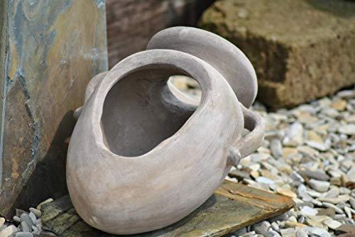 Kunert-Keramik Liegeamphore,Handarbeit,ca.43 cm,rustikal + frostfest,bepflanzbar