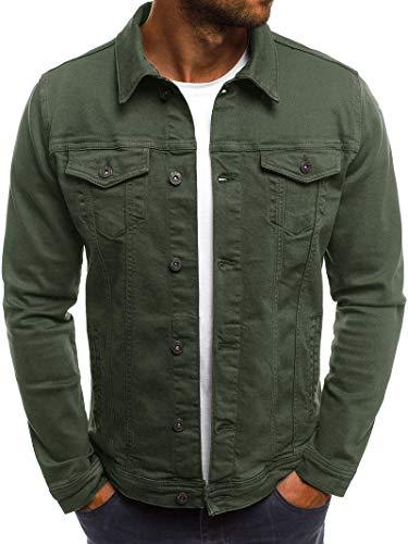 LiDaiJin Mens Air Force Jacke Slim Fit Langarm Baumwolle lässig leichte warme Jacke mit Reißverschluss Parka Trenchcoats Blazer Oberbekleidung mit Mehreren Taschen