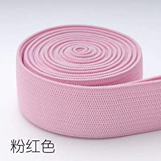 TMYQM 20mm Colorful High-Elastic Elastic Bands Rope Rubber Band 2cm Spandex Ribbon Sewing Lace Trim Waist Band Garment Accessory 1M (Color : Pink)