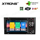 XTRONS 7' Autoradio mit Touch Screen Android 9.0 Quad Core DVD Player Autostereo unterstützt 4G WiFi Bluetooth5.0 Plug&Play Auto Musik Streaming 2GB 16GB DAB & OBD2 FÜR Audi A4/S4/RS4