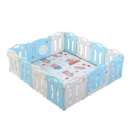Great Deal! QFFL Baby Playpen, 14 Panel Portable Play Yard Playpens for Babies with Game Panel and D...