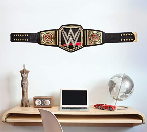WWE Wandtattoo – Title Belt Vinyl-Aufkleber Aufkleber für Kinder Wandbild Kunst Wrestling (60 cm)