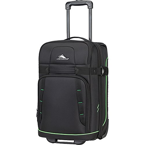 High Sierra Evanston Carry On Upright Luggage, Black/Lime Green, 29'