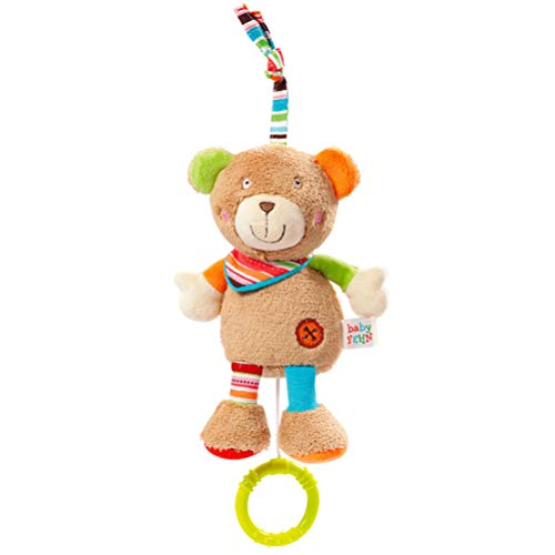 Fehn 091014 Mini – Spieluhr Teddy – Kuscheltier mit integriertem Spielwerk - Melodie