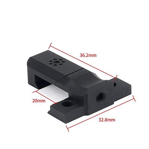 WADSN ライトマウント ベース M600/M300型タクティカルライトに応用 20mmレール (BK)