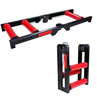 Aiyawear Home Bicycle Trainer Bicycle Turbo Trainer Rollers Stand for Indoor Riding Installation-Free Quick Folding for 20-29 Inch Bike (Color : Red, Size : 49x23x66cm)