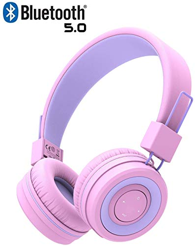Kids Bluetooth Headphones, iClever Wireless Headphones with MIC, 85dB...