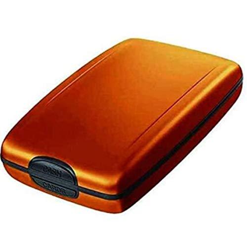 Cartera de aleación de aluminio RFID, multifuncional, para tarjetas de crédito, tarjetas de crédito, tarjetas de crédito, carteras inteligentes y minimalistas, dorado (Dorado) - UMBRANDED-XGQBIJ-2