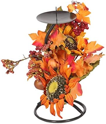 QYLLXSYY Ranking TOP10 Popular standard Halloween Simulation Maple Leaf Holder Iron Cand Candle