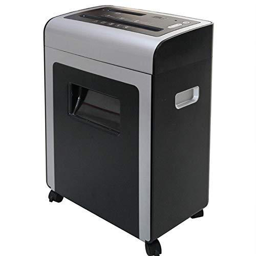 XXLHH 10 vellen kruissnij-papiervernietiger, papier en creditcards versnipperaar met 21 l mand voor thuis en in kleine kantoren, vier wielen voor lichte mobiliteit