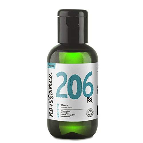 Naissance Hanfsamenöl BIO 60ml – nativ, kaltgepresst, 100% rein – vegan und tierversuchsfrei – reich an Omega-3 und Omega-6