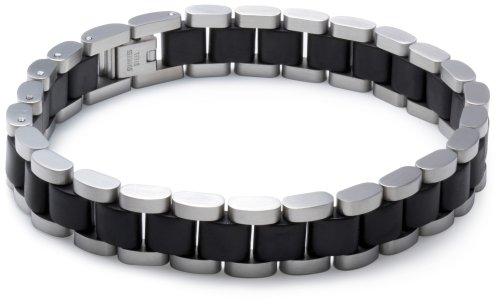 Bracelet - 0.23.6194 - Pulsera de hombre de acero inoxidable y oro, 22 cm