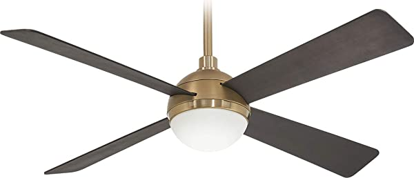 Minka Aire F623L BBR SBR Orb 54 Ceiling Fan With LED Light And Remote Control Brushed Carbon