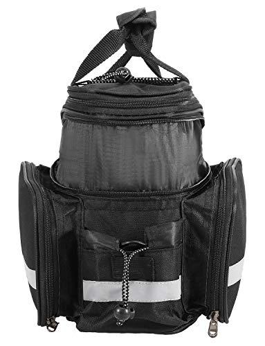 Lixada 25L Fahrrad Rücksitztasche Multifunktions erweiterbar Wasserdicht MTB Fahrrad Gepäcktasche Fahrrad Gepäcktasche mit Regenschutz, schwarz - 4