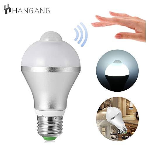 Hangang bewegingssensor Detector LED-lamp, 9W Smart PIR LED-lampen Auto aan/uit Beveiligingslicht voor buiten/binnen nachtlampje Lamp
