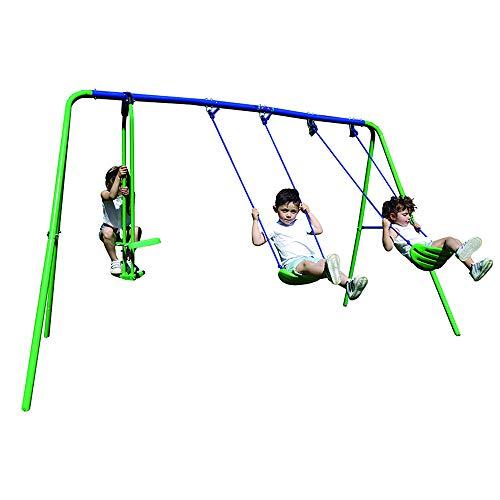 My Swing Play 31 Columpio Infantil Triple, Verde y Azul