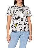Desigual TS_Snoopy Camiseta, Negro, L para Mujer