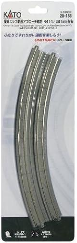 envío gratis N 16.3 15 22.5-Degree 22.5-Degree 22.5-Degree Dbl Curve, Concrete Tie(2) by Kato  ventas de salida