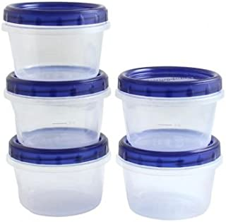 Clear Plastic Food Containers 16 oz With Screw-On Lids 5 Pack, Great Quality