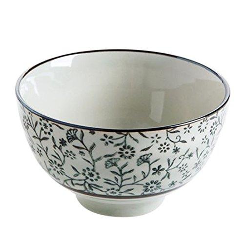WEIAIXX Glasierte Keramik Porzellanschüssel Essen Reis Reis Schalen Und Wind Besteck Große Schüssel Nudeln Bowl Cloisonne