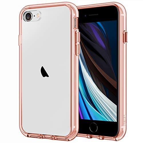 JETech Case for Apple iPhone SE 2nd Generation, iPhone 8 and iPhone 7, 4.7-Inch, Shockproof Bumper Cover, Anti-Scratch Clear Back, Rose Gold