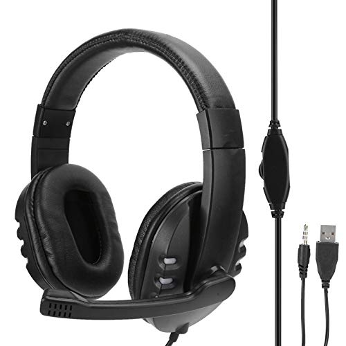 Pelnotac Gaming Headset,3.5mm+USB with Microphone Head‑Mounted Gaming Headphone Headset LED Light Accessory, Gaming Headphones Compatible with PC,PS4,PS5,Computer,Laptop,Controller