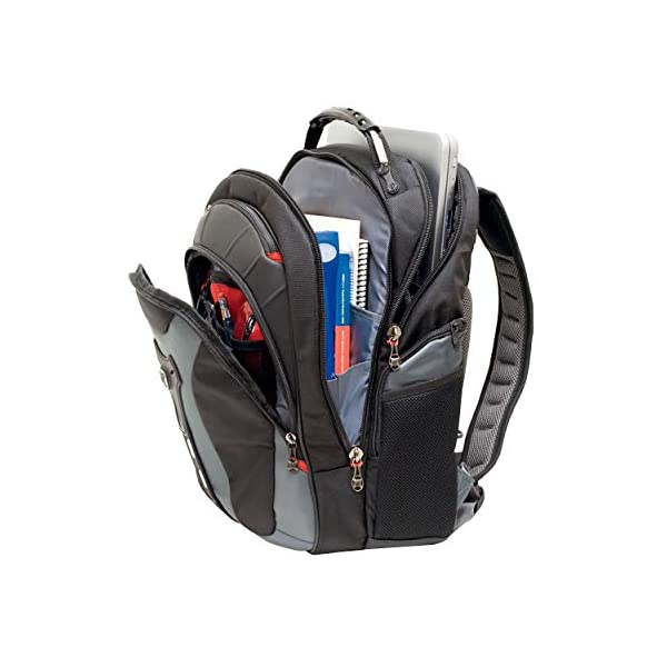 "41ewV4OrazL. SS600  - Wenger/SwissGear 600639 maletines para portátil 43,2 cm (17"") - Funda (Funda Tipo Mochila, 43,2 cm (17""), Tirante para Hombro, 2,1 kg, Negro, Gris)"