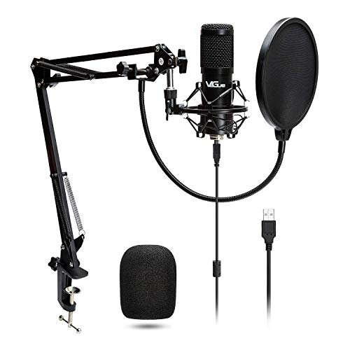 USB Microphone VG016 Condenser computer Mic kit 192kHZ/24bit met Professionele Sound Chipse voor Podcast, Game, YouTube, Opnemen, PC Karaoke
