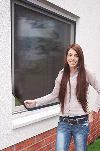 Schellenberg 50748 Insektenschutz Fenster Magnetic Fliegengitter mit Magnetrahmen, flexibler Kunststoff-Rahmen