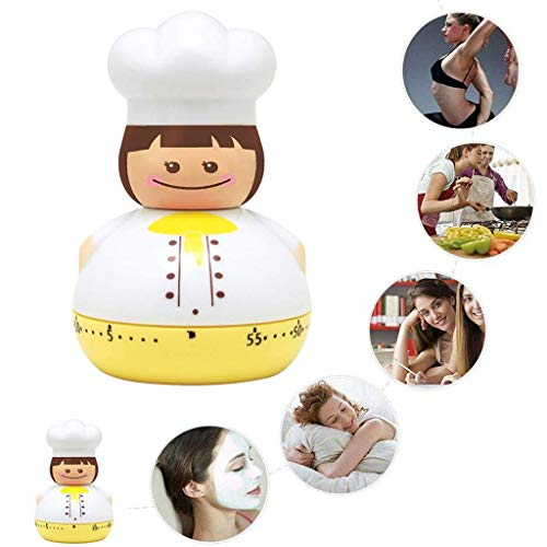 Kookwekker, Keuken Countdown Kookwekker Herinnering, Kookwekker 60 min Aftelklok, Mechanische Wekker Herinnering Tellen, Schattige Cartoon Chef Ontwerp, Keuken Kookmachine Timer