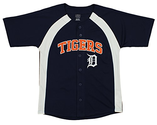 Outerstuff MLB Youth Boys Blank Baseball Jersey, Various Teams (Detroit Tigers, Medium (10-12))